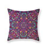 Customized Standard Pillowcase Hippie Fractal Psychedelic Picture Throw Pillow 18 X 18 Square Pillowcase Throw Pillow Cover Cushion