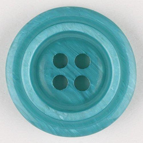 2 Stück: Polyesterknopf mit 4 Löchern - Größe: 25mm - Farbe: grün