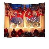 ZC Dawn Weihnachtskerze Kulisse Für Fotografie, Weihnachten Kamin Foto Kulisse Weihnachtsfeiertags-Family Party Für Kinder Fotografie Hintergrund,A,7.5x5.9ft