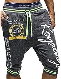 LIANIHK Hombre Casual Harem Holgado Hip Hop Respirable Jogging Deportivos Pantalones