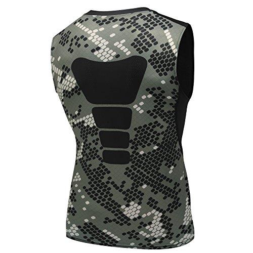 AMZSPORT Herren Kompressions-Tanktop Ärmellos Funktionsshirts BaseLayer Unterhemd Tarnung Serie M (Under Armour Kurzarm-unterhemd)