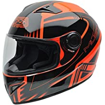 NZI 150196G677 Must Multi Xlogo Orange Casco de Moto, Color Negro y Naranja Flúor,