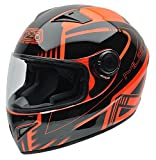 NZI 150196G677 Must Multi Xlogo Orange Casco de Moto, Color Negro y Naranja Flúor, Talla 57 (M)
