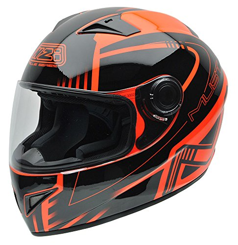 NZI 150196G677 Must Multi Xlogo Orange Casco Moto