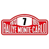 ResinFly Sticker pegatina adhesivo Sticker pour Voiture et Moto Rallye Monte-Carlo 10x 4cm Aufkleber Autocollant
