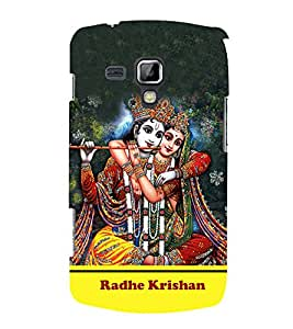 Radha Krishna 3D Hard Polycarbonate Designer Back Case Cover for Samsung Galaxy S Duos S7562