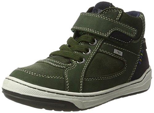 Lurchi Jungen Barney-Tex Hohe Sneaker Grün (Dk.Green Deep Forest) 38 EU