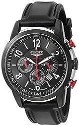 ELYSEE Mens 80524S Competition Analog Display Quartz Black Watch
