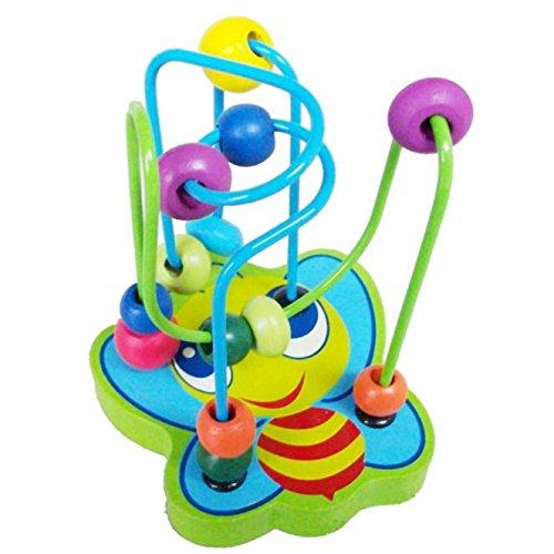 Juguete Del Bebé, Oyedens juguetes rompecabezas de madera alrededor de los animales juguete de bolas pequeñas