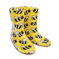 Socks Uwear Kids Child Boys Girls Busy BEE PVC Funky Wellies Wellington