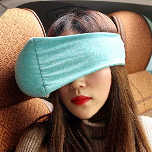 Reisekissen multifunktionale Baumwolle U-förmige Kissen Flugzeug 2 In 1 Auge Maske Halsbrille für Männer, Frauen und Kinder grün -