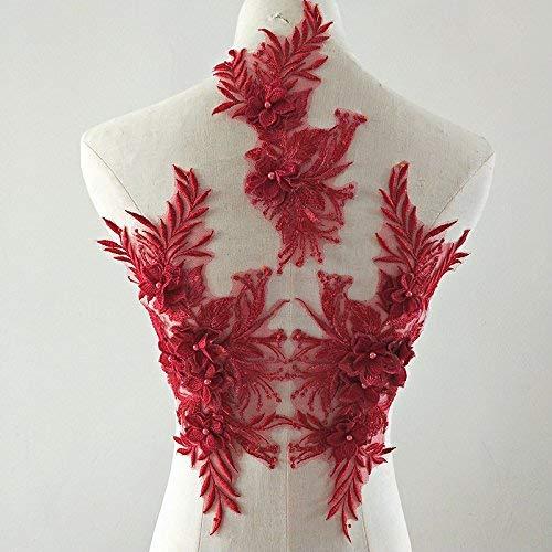 3D Encaje Apliques Flor Parche Ideal Bricolaje Decorado