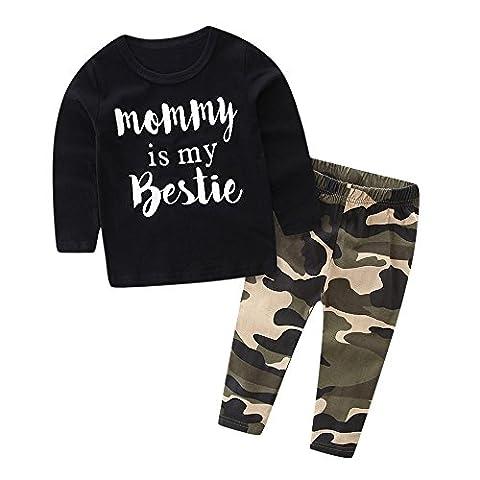 Baby Kleidung Set, Xmansky Kleinkind Kinder Baby Jungen Set Kleider Brief Gedruckt Oberteile + Hose Kleidung Set (12-18 (Kleinkind-jungen Set)