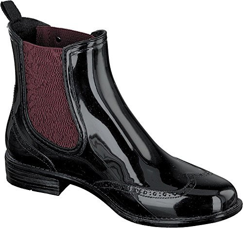 Gosch Shoes Sylt - Damen Chelsea Gummistiefel 7100-501 in 4 Farben black-bordeaux