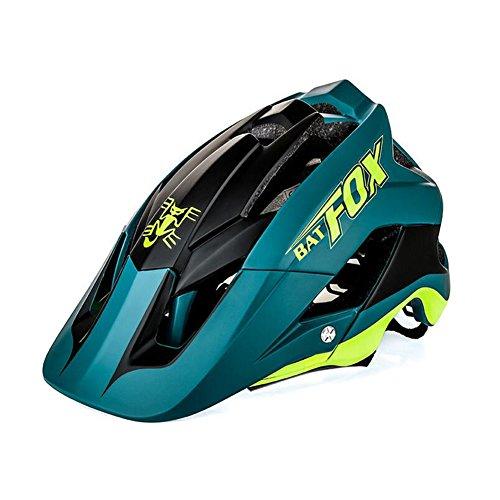 LAIABOR Specialized Fahrradhelm Raffiti Mountainbike Sport Schutzhelm Helm Komfortable,DarkGreen