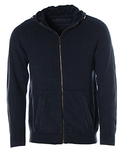 Kitaro Herren Strickjacke Kapuzenjacke Strickmix -Grand Rallye- Dusty Navy
