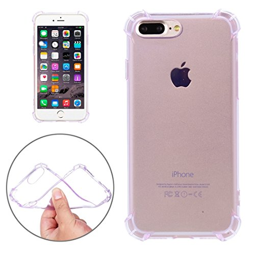Hülle für iPhone 7 plus , Schutzhülle Für iPhone 7 Plus Trennbarer galvanisierender Spiegel Push Pull PC Schutzhülle Back Shell Cover + Metal Stoßfänger ,hülle für iPhone 7 plus , case for iphone 7 pl Purple