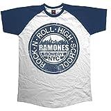 Rockoff Trade Herren Ramones Bowery NYC Raglan T-Shirt, Weiß, M