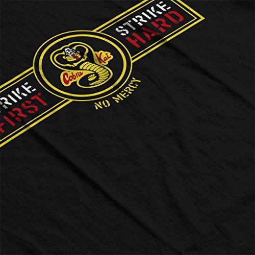 Karate Kid Strike First Strike Hard Men's Hooded Sweatshirt Black