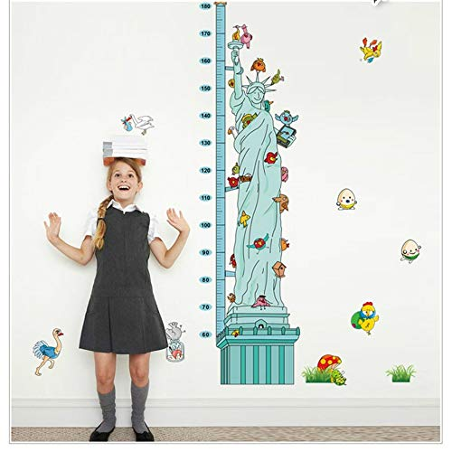 öhe Messung Wandtattoo Aufkleber Statue Of Liberty Wachstum Chart Wall Poster Für Kinderzimmer Kindergarten Höhe Herrscher ()