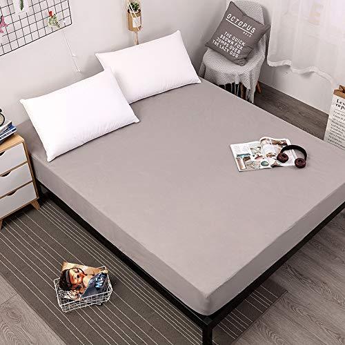 Matratzenauflage zum Schutz der Matratze. 60°C waschbar, atmungsaktiv und Allergiker geeignet,Einfarbiges, lichtechtes Reinigungspad grau 185X215X25cm 580G