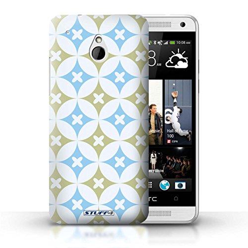 Kobalt® Imprimé Etui / Coque pour HTC One/1 Mini / Rose vive / vert conception / Série Kaléidoscope Bleu/marron