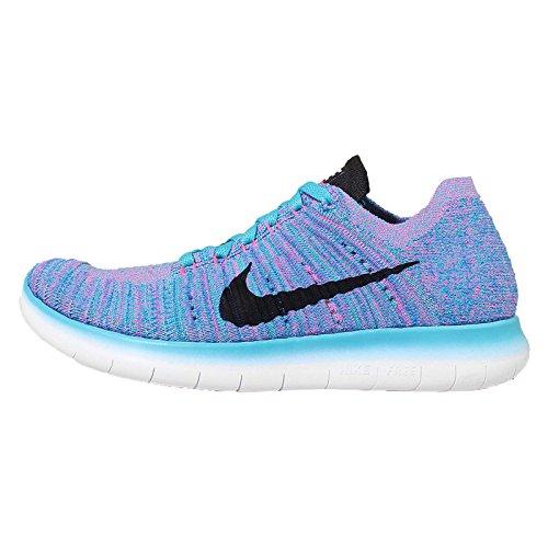 Chaussures noir bleu RN explosion Wmns photo Nike Flyknit bleu de rose gamma Entrainement Free Running Bleu Femme pq7AnI