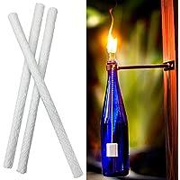 smartrich - Mechas de Fibra de Vidrio – 0,53 x 14,1 Blanco Fibra de Vidrio Repuesto Tiki Linterna mechas para Lámparas de Aceite Velas Botella de Vino mechas, A, 1 Pieza