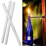 1,3x 35,8cm weiß Fiberglas Ersatz Tiki Fackel Dochte für Öllampen und Kerzen Wein Flasche leitet