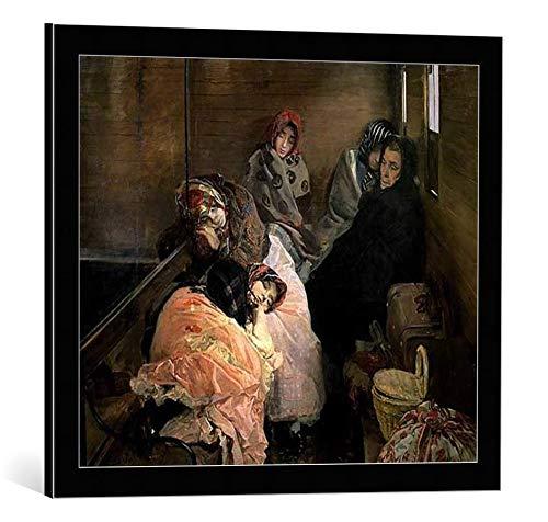 """Kunst für Alle Cuadro con Marco: Joaquin Sorolla y Bastida The White Slave Trade 1895"""" - Impresión artística Decorativa con Marco, 60x50 cm, Negro/Canto Gris"""