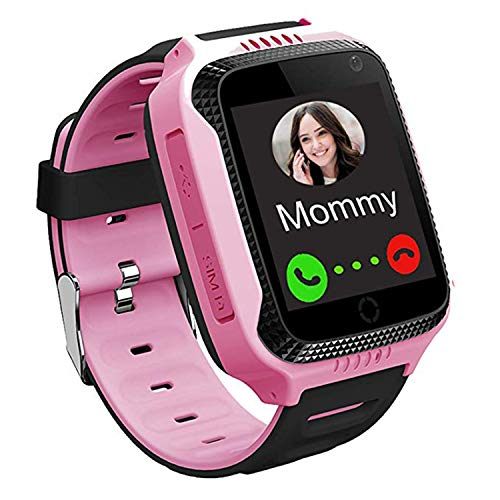 GPS Kinder Smartwatch Telefon - Kinder Smart Watch Intelligente Armbanduhr Armband Sport Uhr, Anruf Sprachnachricht SOS Taschenlampe Digitalkamera, Geschenk für Kinder Junge Mädchen Student (Anruf)
