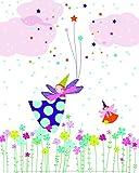 Affiche 24x30 cm Fée qui vole / Flying Fairy Laure GIRARDIN-VISSIAN