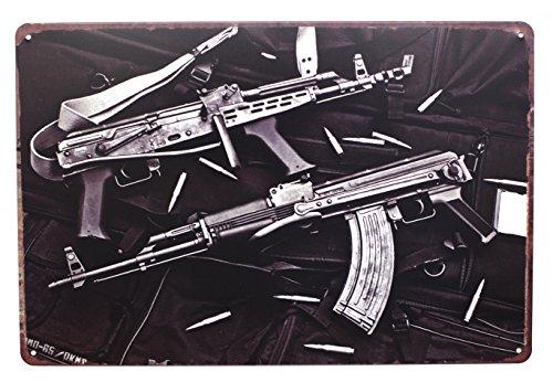 HiOni Classic AK-47 Sturmgewehr Vintage Blechschild Poster Wandschild Wand Dekoration Metallschild Türschild
