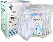 QZY - Masque FFP2 de protection - Boîte 20 Masques FFP2 Jetables - Certifié CE Avec Élastiques & Clip de n