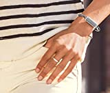 FitBit FB161MBSRL Flex 2 Accessory Luxe Bangle - Silver/Large