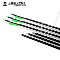 12pcs GREEN Hunting Arrow Hunter Nocks Fletched Arrows Fiberglass Target Practice Arrow 32 by Sports World