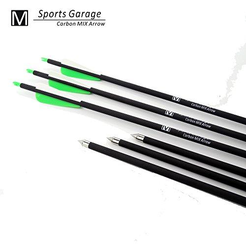 12-pcs-green-hunting-arrow-broadheasd-on-off-screw-tip-hunter-nocks-fletched-arrows-fiberglass-targe