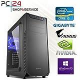 PC24 Gaming PC | 250GB M.2 970 EVO SSD | Intel i5-7600K @4x4,00GHz | nVidia GF GTX 1060 mit 3GB RAM | 16GB DDR4 PC2133 RAM | Gigabyte GA-Z270-HD3P Mainboard | 600Watt 80+ ATX Netzteil | Windows 10 Pro | i7 Gamer PC