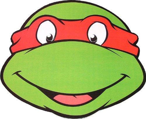 Teenage Mutant Ninja Turtles - Raphael - Card Face (Maske Ninja Turtle Teenage Raphael Mutant Erwachsene Für)