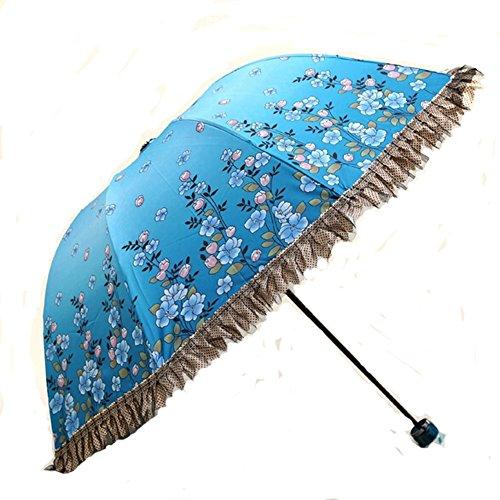 damen-blau-schone-blumen-druck-spitze-regenschirm-folding-anti-uv-sonnenschirm-regen-regenschirm