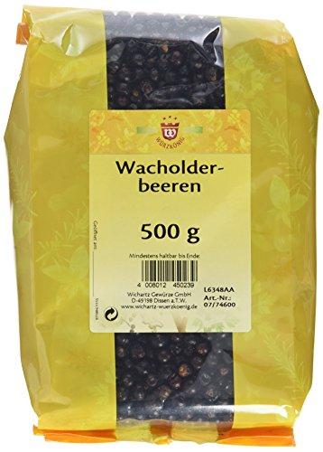 Wichartz Würzkönig Wacholderbeeren doppelt gesiebt, 3er Pack (3 x 500 g)