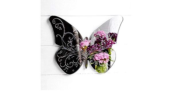 Détaillée Gravé Papillon Acrylique Miroir