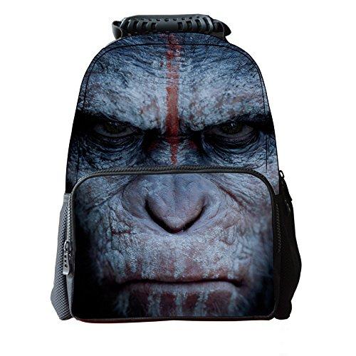 koson-man-3d-tier-niedliche-kinder-rucksack-laptop-chimpanzee-schwarz-kmukb41