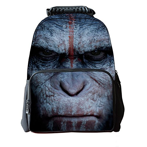 imayson-3d-animal-cute-kids-mochila-para-ordenador-porttil-gorilla-negro-ukb41