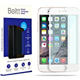 Boltt Premium IPhone 6s+ Smart Tempered Glass Screen Protector / Screen Guard - Premium 5D Full Glue 9 H Hardness Toughened Glass. Full Edge-Edge Screen Protection, Anti Shatter And Scratch Proof, 5D Tapered Around The Edges For IPhone 6s+ With Boltt Heal