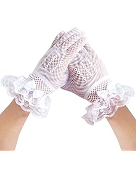 niñas de las flores guantes de boda de malla