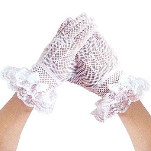 Blumenmädchen Fischnetz Handschuhe Hochzeit -