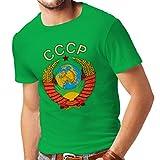 lepni.me T-shirt pour hommes T-shirt Union Soviétique СССР drapeau Russe t-shirt (X-Large Vert Multicolore)