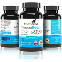 NutriZing complejo de Aceite de Pescado con Omega 3 6 9 ~ Suplemento de 1000 mg