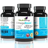 ★ NutriZing's Omega 3 6 9 Triple Strength EPA & DHA ~ 1000mg for Women & Men ~ 90 capsules (most competitors only offer 60) ~ 100% Pure & Natural Formula ~ Made in the UK ~ 100% Money Back Guarantee ~ High Strength Softgels ~ Essential Oils Supplement for Immune System ~ Flaxseed Oil ~ Works Best to Reduce Joint Pain ~ Regulate Cholesterol ~ Fish Oil Complex To Promote Heart, Joints and Skin Health ★ Omega-3 1000 mg capsules